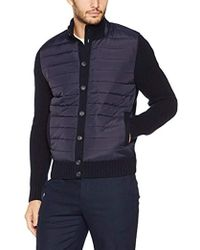 Hackett - Padded Full Btn Cardi Cardigan - Lyst