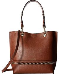 CALVIN KLEIN 205W39NYC - Reversible Chain Novelty Tote Bag - Lyst
