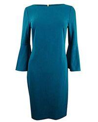 Calvin Klein - 3/4 Peplum Sleeve Sheath Dress - Lyst