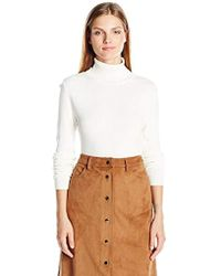 Jones New York - Long Sleeve Fitted Turtle Neck Top - Lyst