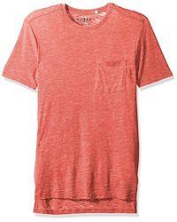 2fe1036d1 Short Sleeve Myer Slit Neck. $39. Amazon Prime. Guess - Myer Slub Burnout T- shirt - Lyst