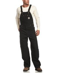 Carhartt Big & Tall Duck Bib Overalls Unlined R01 - Black