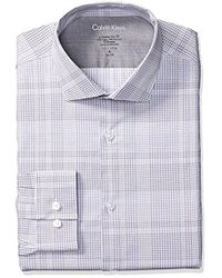 Calvin Klein - Dress Shirts Xtreme Slim Fit Thermal Stretch Plaid - Lyst