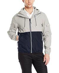 Izod - Hooded Water Resistant Windbreaker Jacket - Lyst
