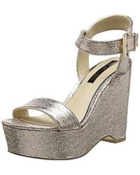 6a3fd3797672 Miss Selfridge -  s 51m06ugld Ankle Strap Sandals - Lyst