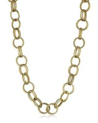 """Betsey Johnson - Gold-tone Textured Chain-link Long Necklace, 36"""" - Lyst"""