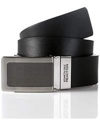 Kenneth Cole Reaction - Reversible Plaque Buckle Belt - Lyst