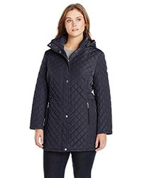 Calvin Klein - Classic Quilted Jacket With Side Tabs - Plus Size - Lyst