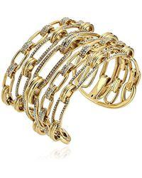 Michael Kors - S Iconic Link Pave Open Cuff Statement Bracelet - Lyst