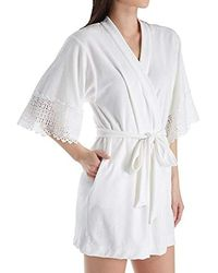 Lyst - Betsey Johnson Baby Terry Bridal Wifey Robe in White 5bef69b20