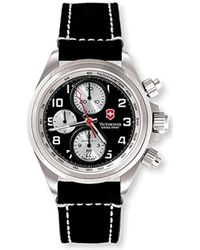 Victorinox - Swiss Army Chrono Pro Leather Strap S Watch 241187 - Lyst