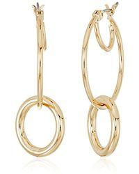 Anne Klein - Hoop Earrings - Lyst