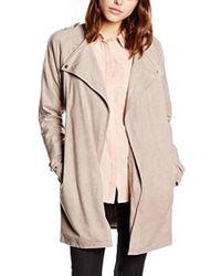 Vero Moda - Vmvolonte Creme 3/4 Fake Suede Jacket Long Sleeve Coat - Lyst