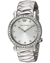 Juicy Couture - 'la Luxe' Quartz Stainless Steel Casual Watch, Color:silver-toned (model: 1901487) - Lyst