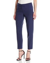 Anne Klein - Crepe Extended Tab Bowie Pant - Lyst