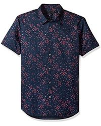John Varvatos - Mayfield Floral Short Sleeve Slim Shirt - Lyst