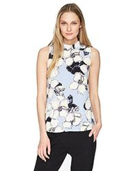 Ellen Tracy - Tie Back High Neck Shell - Lyst