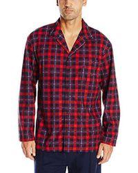 Nautica - Long Sleeve Button Down Cozy Fleece Pajama Top - Lyst