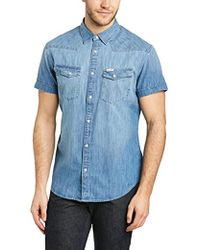 Wrangler - Western Regular Fit Short Sleeve Casual Shirt - Lyst
