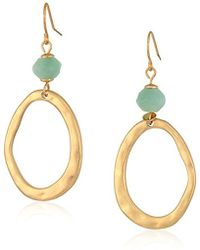 The Sak - Beaded Link Double Amazonite Drop Earrings - Lyst