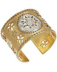 Lucky Brand - Statement Floral Cuff Bracelet - Lyst