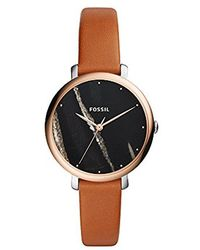 Fossil - Jacqueline Three-hand Luggage Leather Watch - Lyst