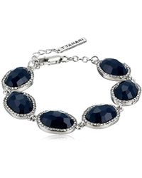 T Tahari - Mystic Sands Link Bracelet With Stones, Silver, One Size - Lyst