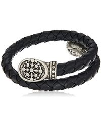 ALEX AND ANI - S Compass Braided Leather Wrap Bracelet - Lyst
