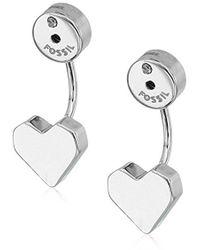 Fossil - Heart Ear Jackets Drop Earrings - Lyst