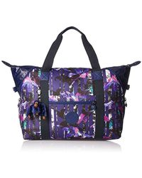 Kipling - Art M Borsa da Viaggio Media, 58 cm, Multicolore (Urban Flower Bl) - Lyst