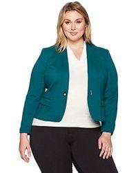 Nine West - Plus Size Ponte 1 Button Jacket - Lyst