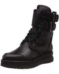 Geox Damen D PORTHYA D Biker Boots, Schwarz (Black C9999), 40 EU