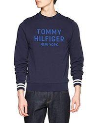 Tommy Hilfiger Contrast Graphic Sweatshirt Sudadera para Hombre - Azul