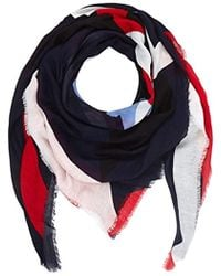 74e165b80c70 Tommy Hilfiger - Geo Scarf, Blue (corporate 901), One Size - Lyst