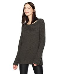 Vince - Oversized Popcorn Ribbed Yoke - Lyst