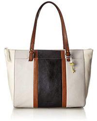 Fossil - Damentasche ? Rachel Shopper, 's Tote, White (neutral Multi), 10.16x33.020000000000003x35.56 Cm (b X H T) - Lyst
