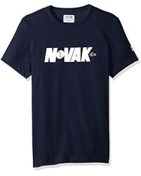Lacoste - Short Sleeve Jersey Tech With Novak Graphic T-shirt, Th3331 - Lyst