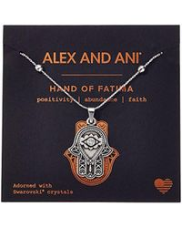 ALEX AND ANI - S Path Of Symbols - Hand Of Fatima Iii Expandable Necklace W/ Swarovski Crystals - Lyst