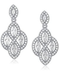 "Anne Klein - ""precious Pieces"" And Cubic Zirconia Medium Post Chandelier Drop Earrings - Lyst"