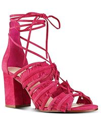 Nine West - Genie Suede Dress Sandal - Lyst
