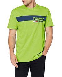 3b5ba2f9 Tommy Hilfiger Tjm Essential Box Logo Tee T in Gray for Men - Lyst