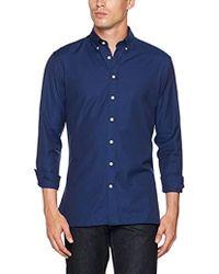 Hackett - Pl Nvy Melange Shirt Leisure - Lyst