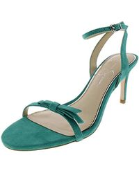 f4e6a71dfd02 Lyst - Jessica Simpson Carena Heeled Sandal in Green - Save 33%
