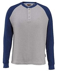 Wolverine - Rykker Baseball Style Blended Thermal 3 Button Henley Shirt - Lyst