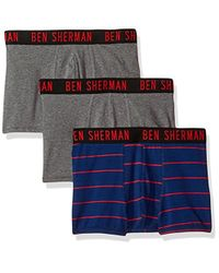 Ben Sherman - 3 Pack Fitted Boxer (trunk) -bsm1101us - Lyst