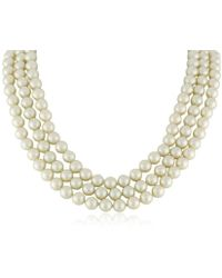 """Kenneth Jay Lane - Cultura Costume Pearl Necklace, 72"""" - Lyst"""