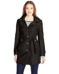 London Fog - Single Breasted Double Collar Trench Coat - Lyst