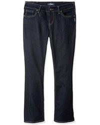 Perry Ellis - Suki Mid Rise Slim Contour Bootcut Jean Plus Size, Rinse Wash, 20x31 - Lyst