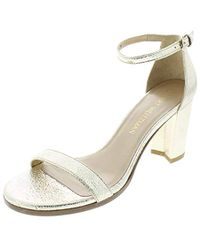 279574396f4 Lyst - Stuart Weitzman The Nearlynude Sandal in Gray