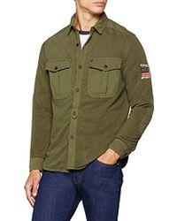 True Religion - Military Overshirt Dusty Olive T-Shirt Uomo, Verde 3106, L - Lyst